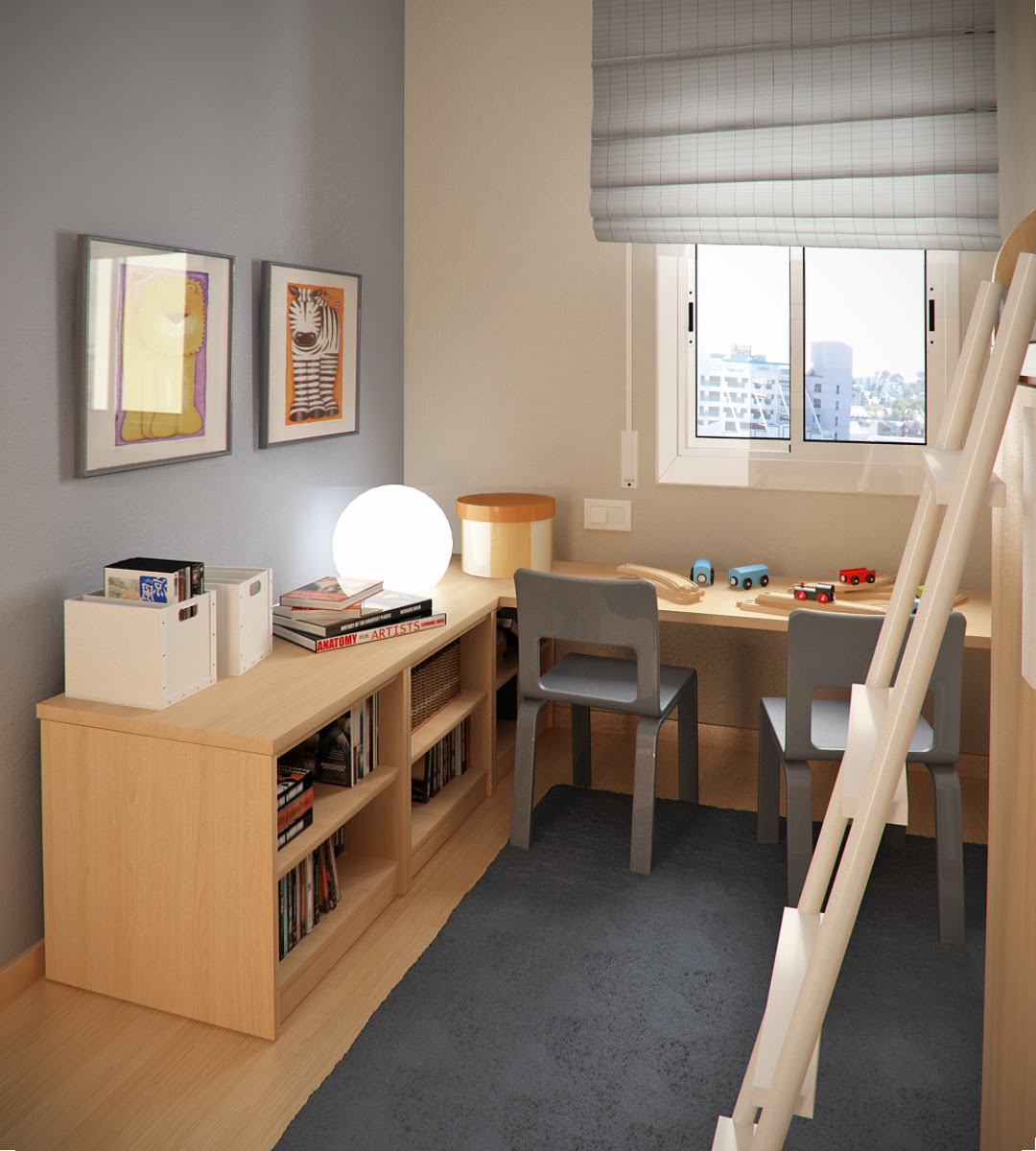 Small Kids Room small floorspace kids rooms