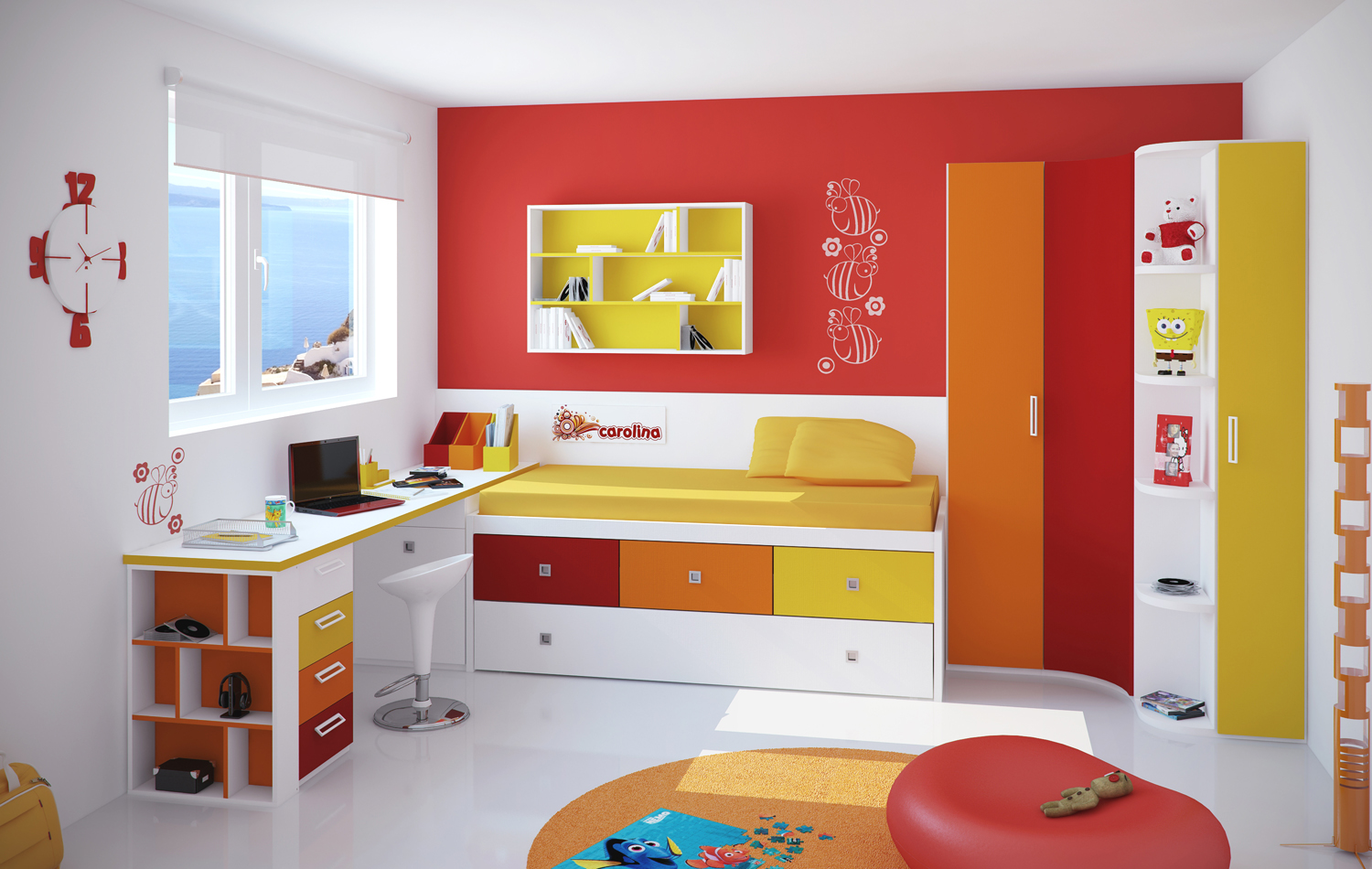 Kids Rooms Small Study Room Designs. Youth Room Kids Rooms Small Study  Designs A