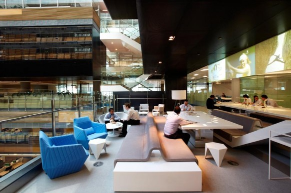 ANZ business centre modern office meeting spaces