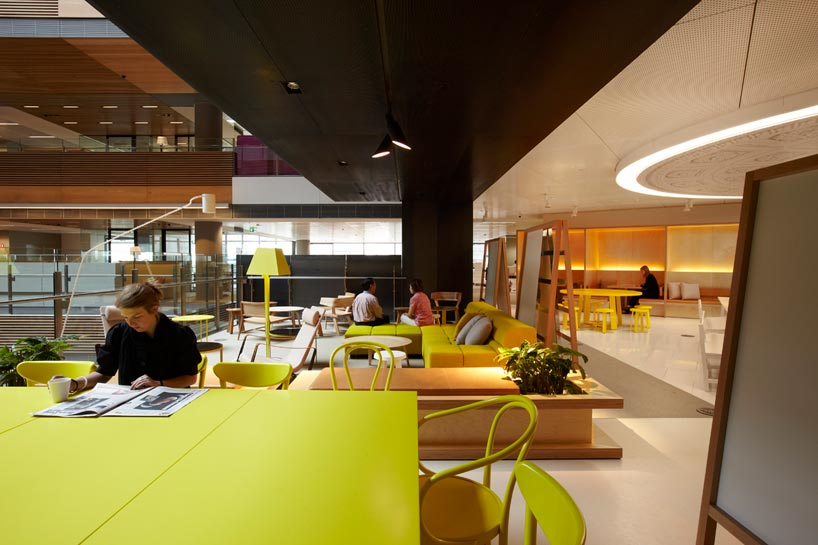 Anz business centre colorful creative modern office space for Melbourne space design