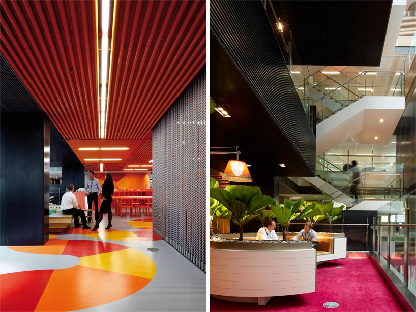 Anz center melbourne colorful creative office for Well designed office spaces