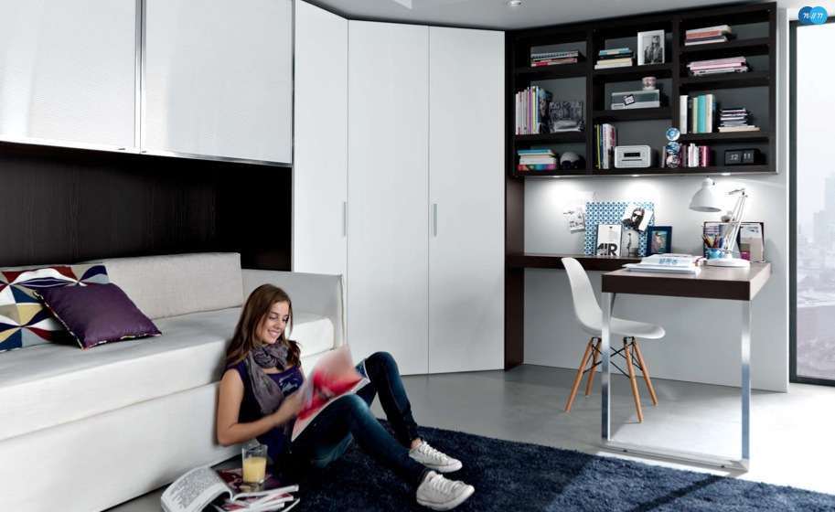 black white contemporary teenagers room - Teenagers Room Decoration