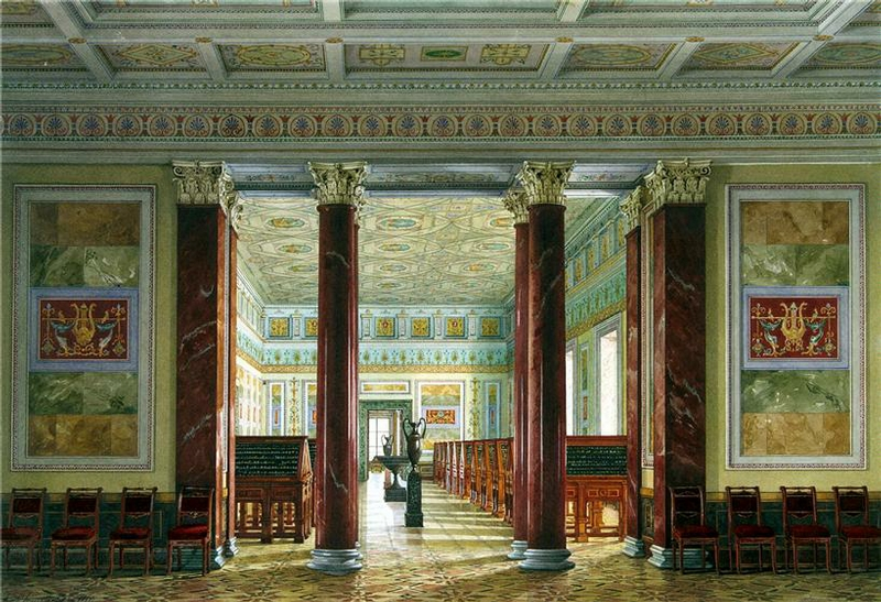 coin storage russian palace opulent decorative ceiling
