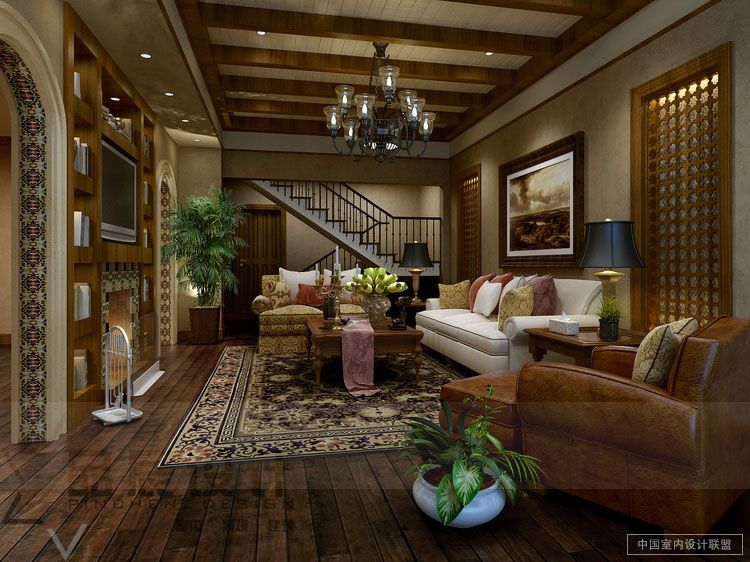 Modern living rooms from the far east for Country style family room ideas