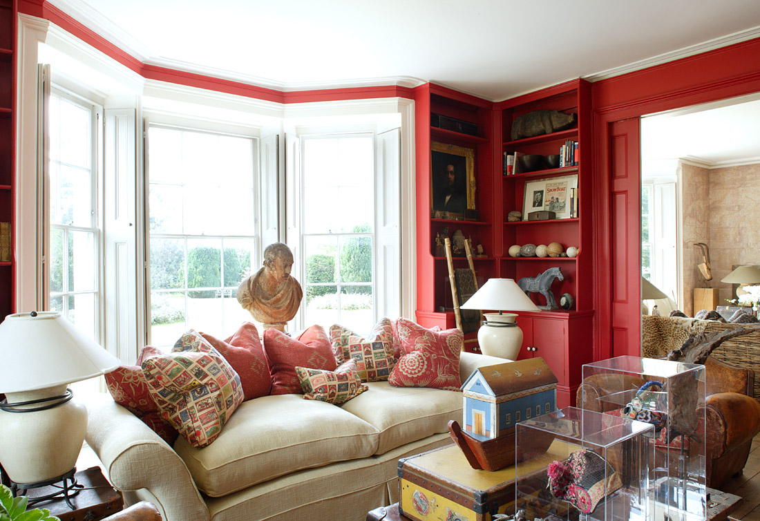 cute red corner in the house