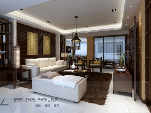 east meets west living room contemporary