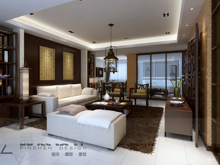 east meets west living room contemporary - Chinese Living Room Design