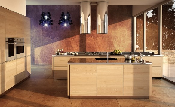 modern kitchen fancy lighting