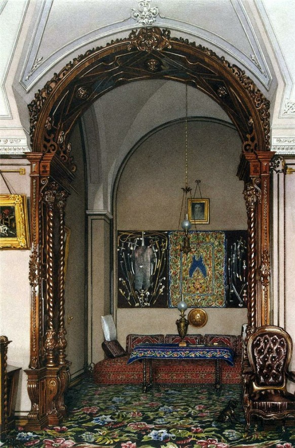study alcove russian ornate palace patterns