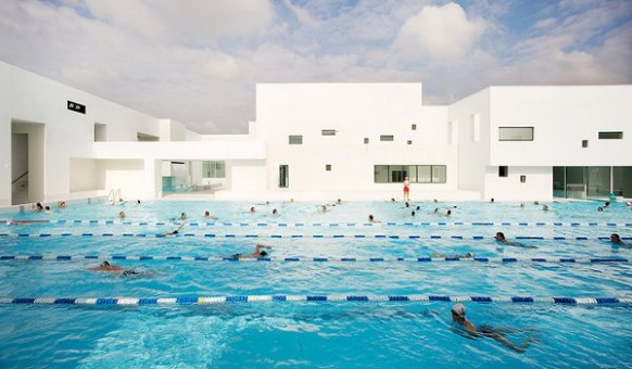 swimming lanes pool design Les Bains Des Docks Aquatic Center