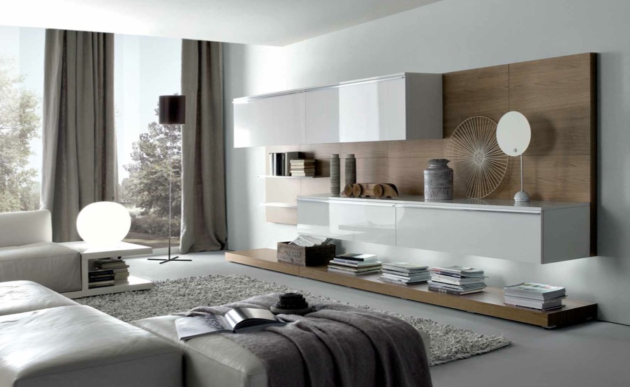 18 modern style living rooms from misuraemme - Idee deco salon taupe et blanc ...