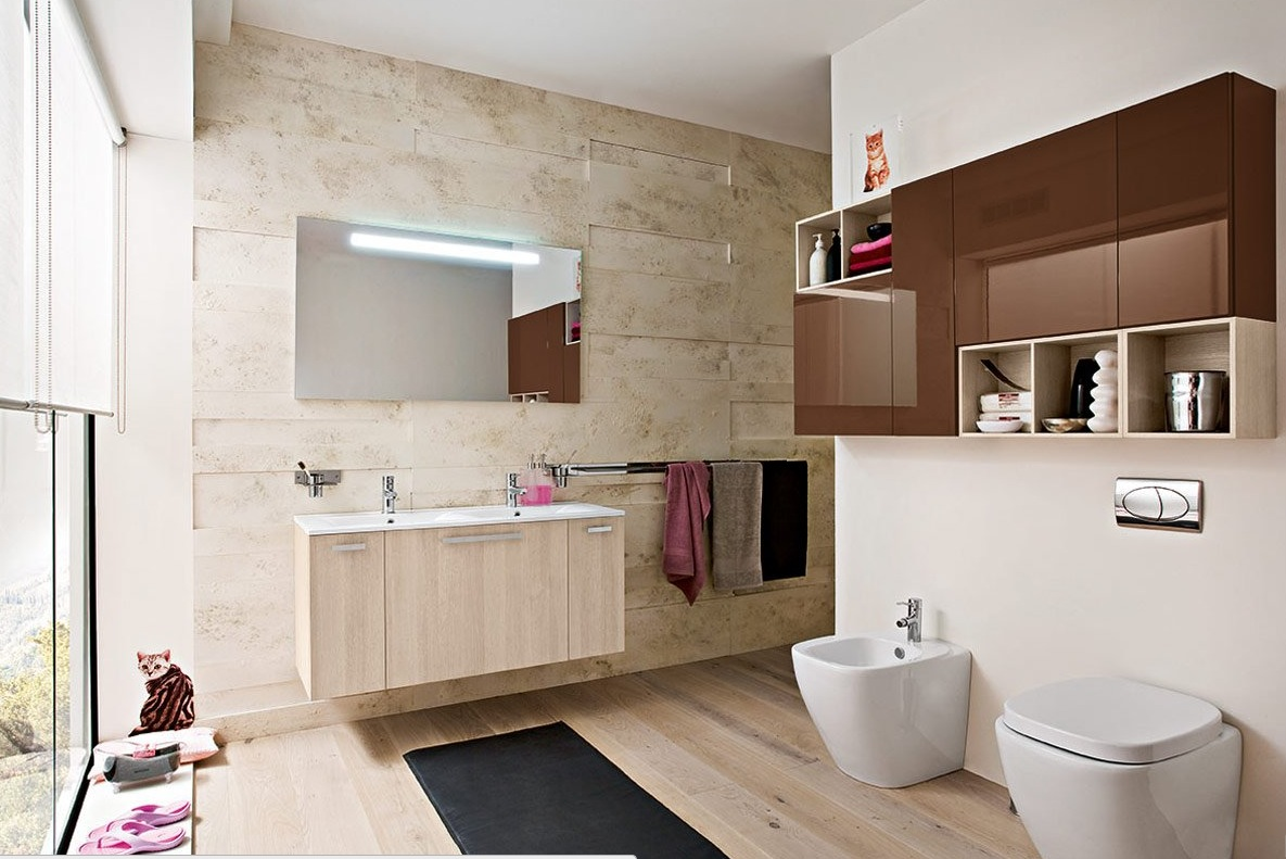 50 modern bathrooms for Different bathroom ideas