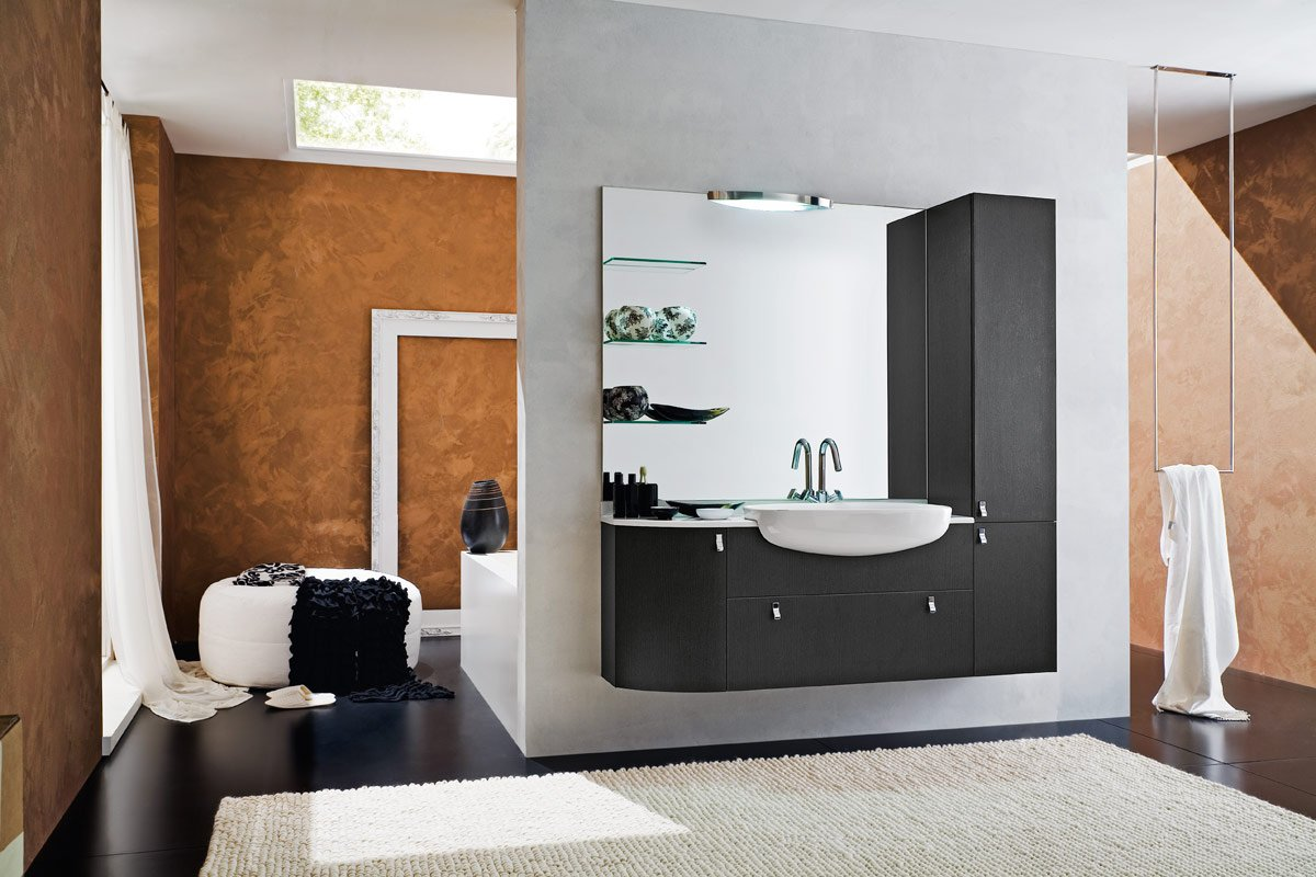 50 modern bathrooms for Bathroom decor 2012