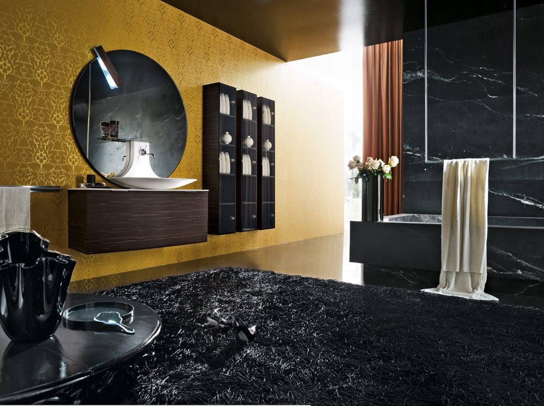 50 modern bathrooms for Bathroom designs black