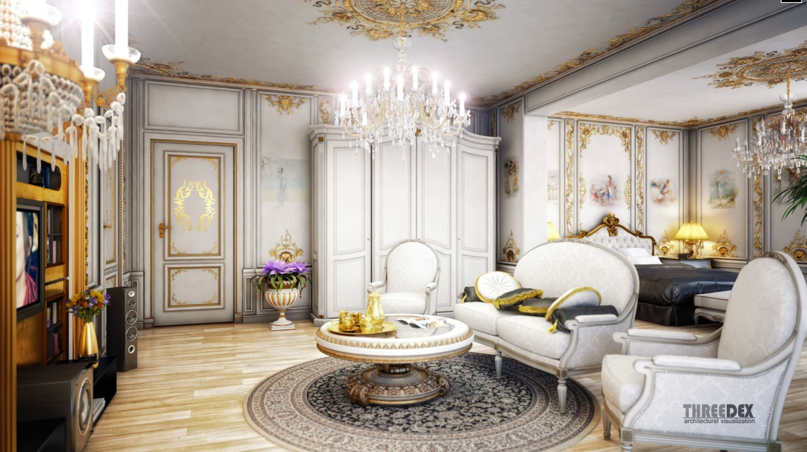 regency victorian era home interior. regency-style-furniture. chandeliers  wallpapers embellishments