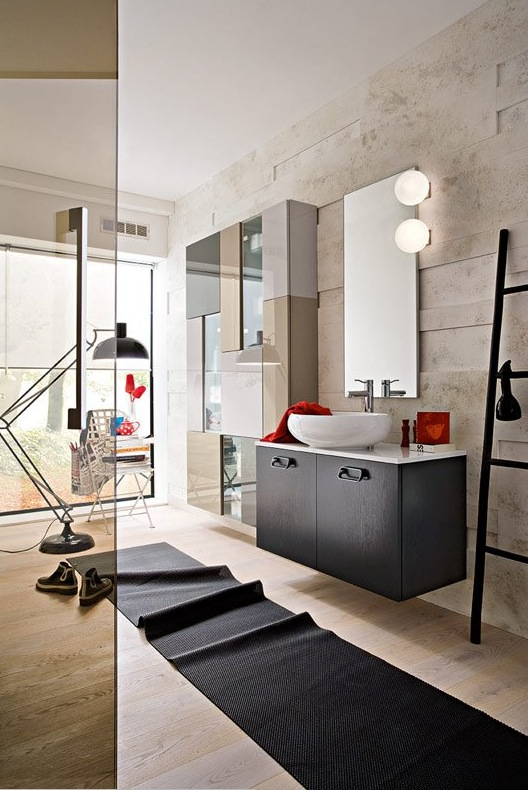 chic biege bathroom