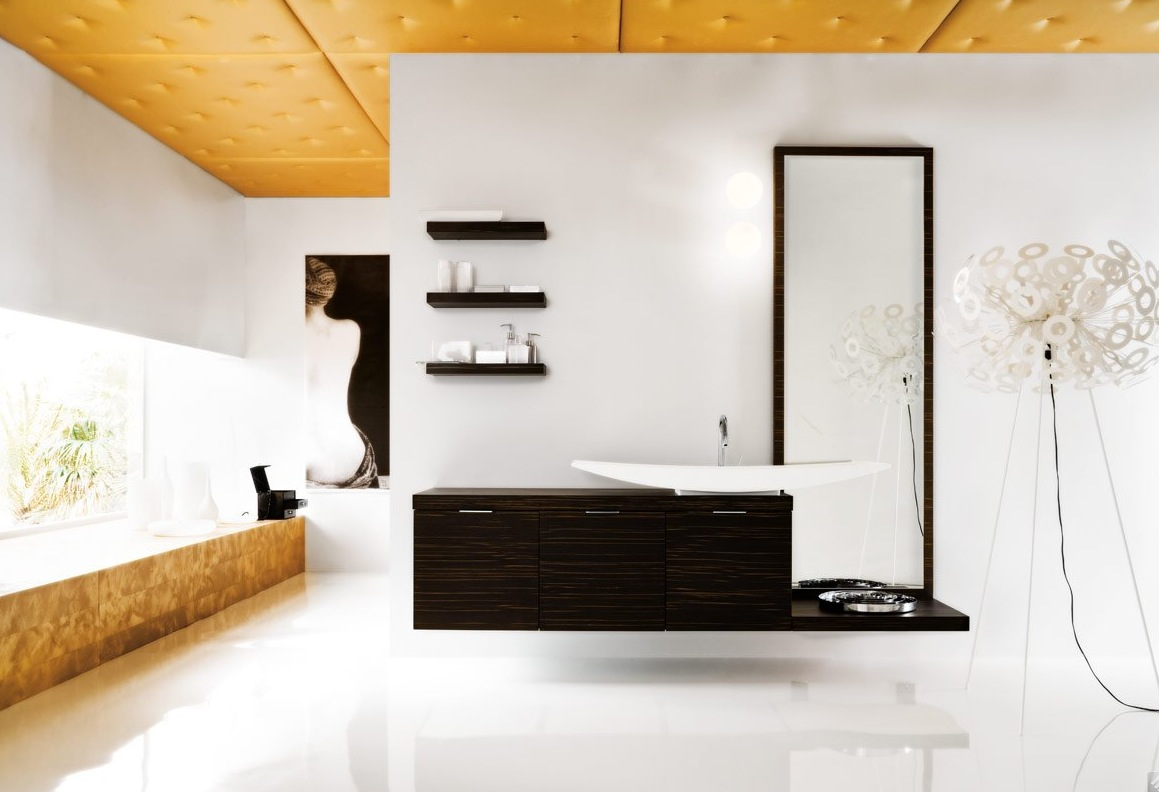 50 modern bathrooms for Contemporary decorative accessories