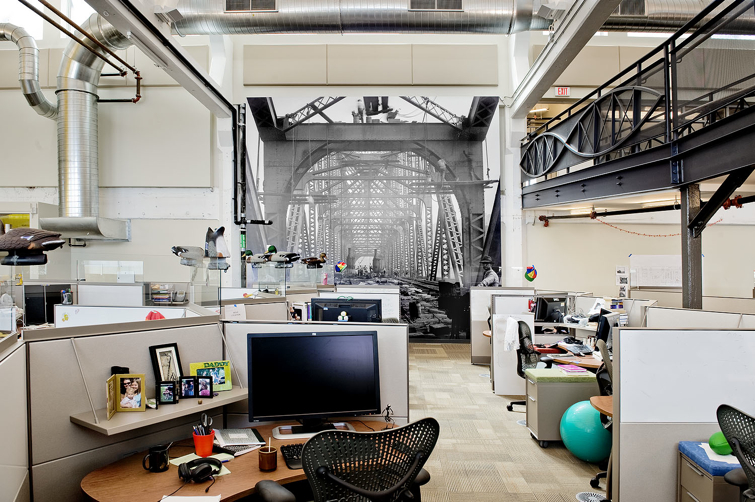 Google pittsburgh office penthouse of a 100 year old for Office design victoria