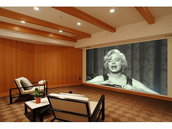 Home Theatre Big Screen Interior Design Ideas