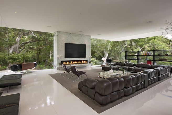 luxury living with glass walls