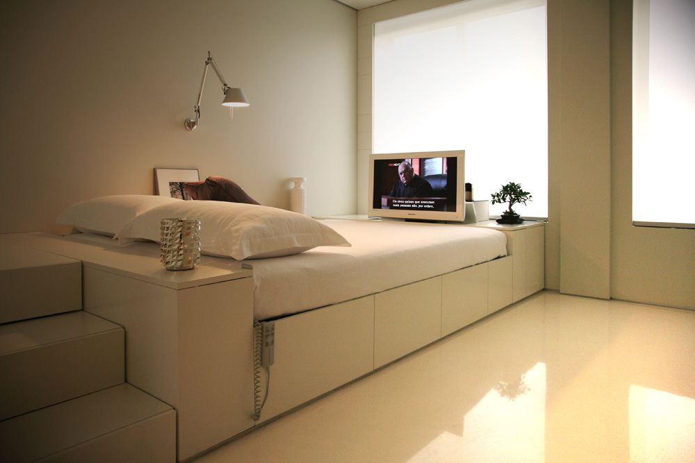 Small space living - Bedroom furniture small spaces minimalist ...