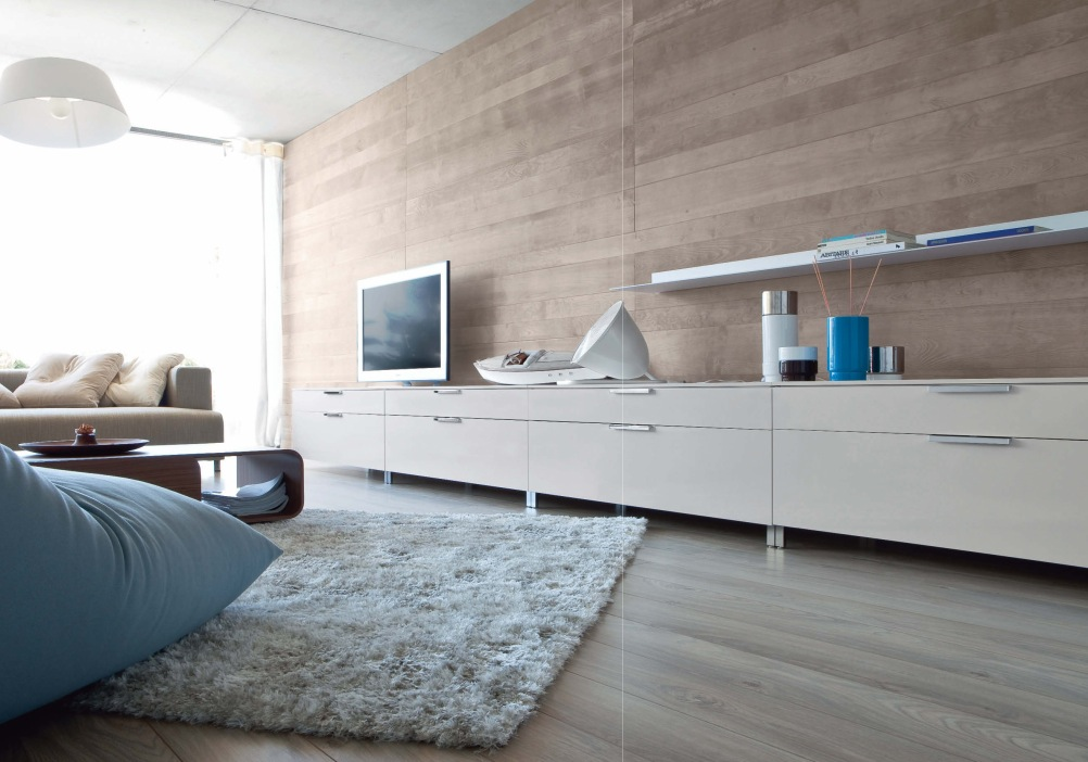 wooden wall flat tv bed