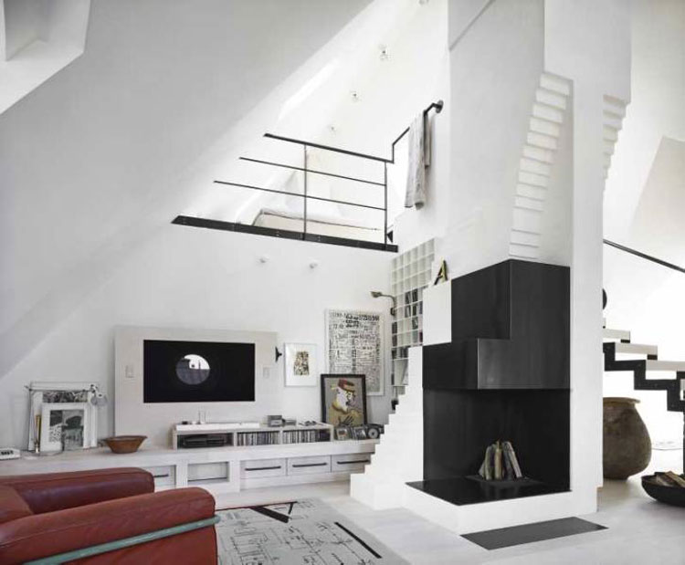 Modern Chimney. Modern Fireplaces Electrical Fireplace. Modern