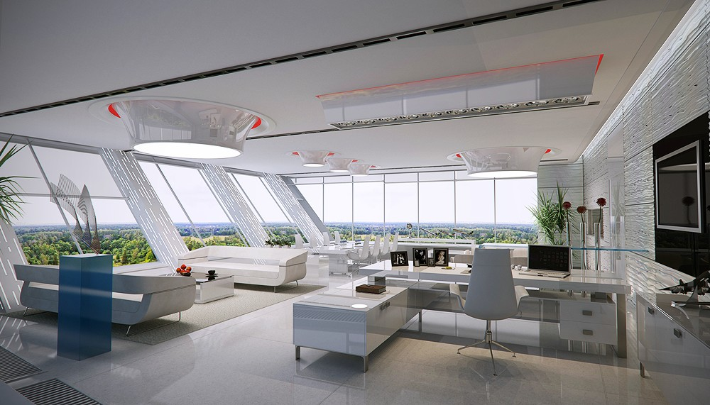 amazing office design. Grand White Office Amazing Design C