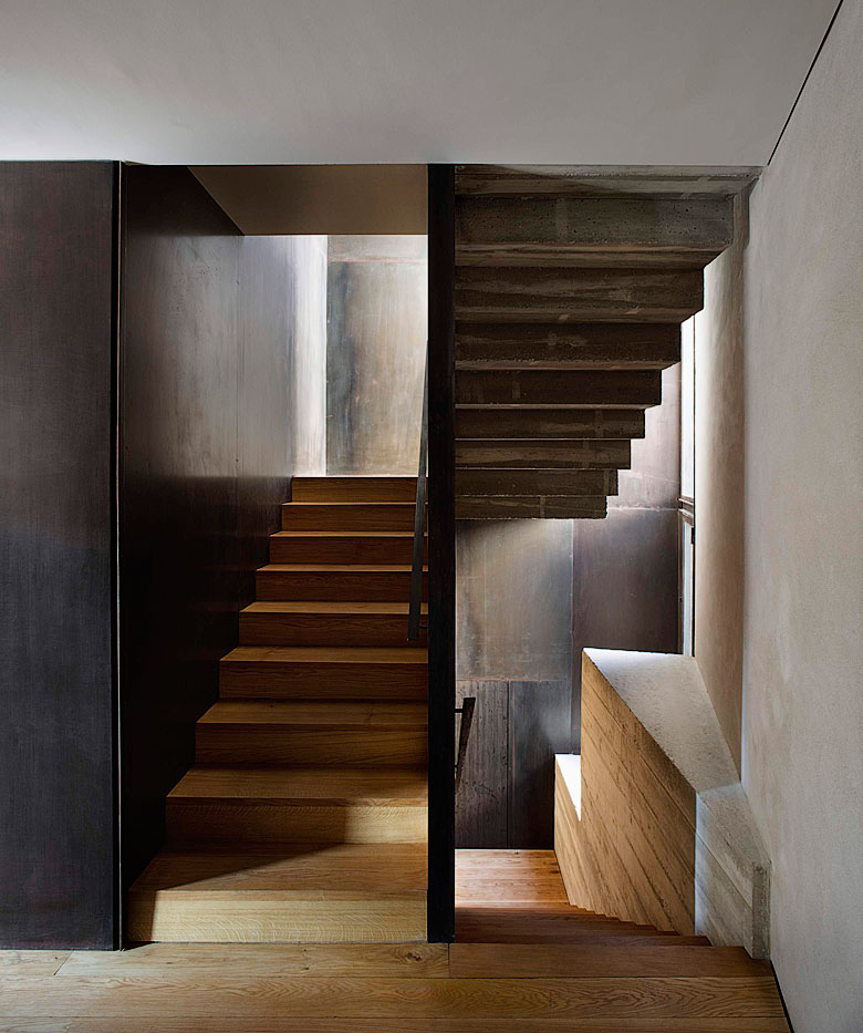 Modern medieval apartment for Interior staircase designs