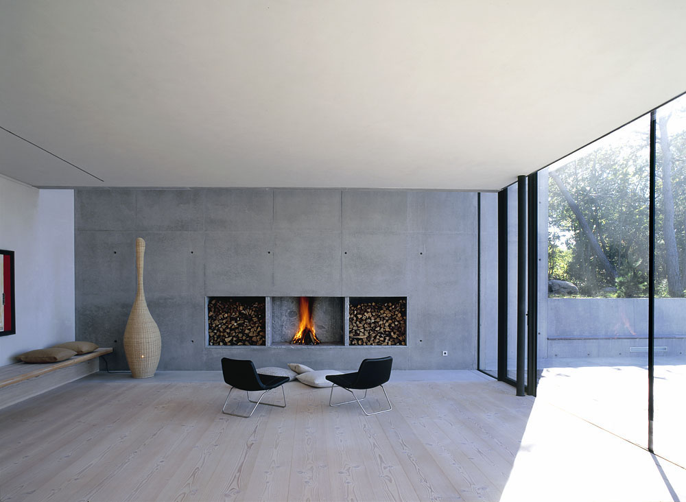 modern fireplace design  Interior Design Ideas