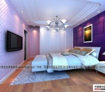 student bedroom purple walls