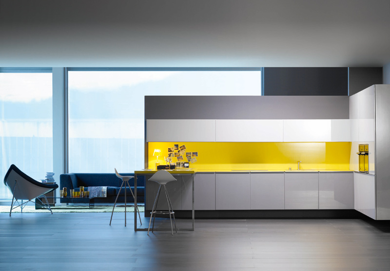 Personalized kitchens from logoscoop for Modern yellow kitchen design