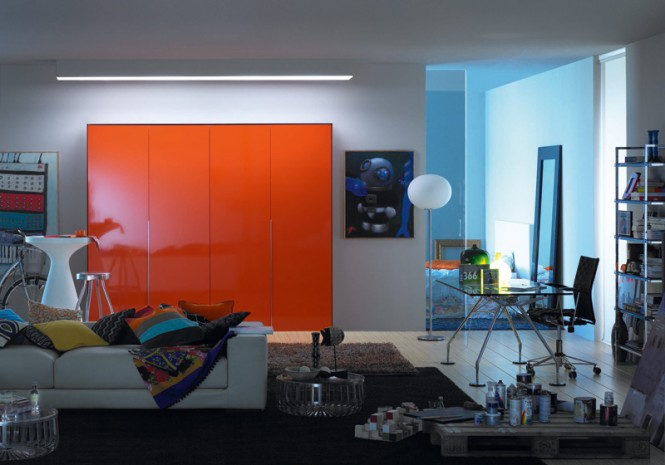 5 Concealed orange kitchen