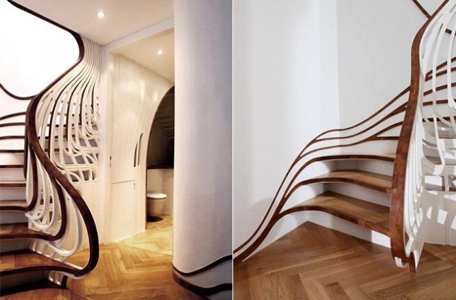 A staircase can even look and feel like a Dali painting.