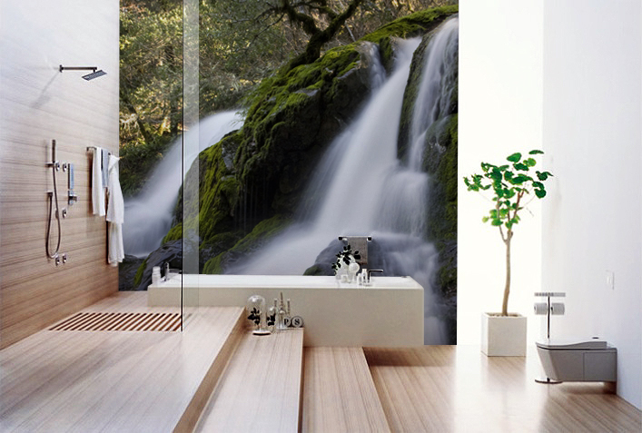 Photo wallpapers for every room for Bathroom mural wallpaper