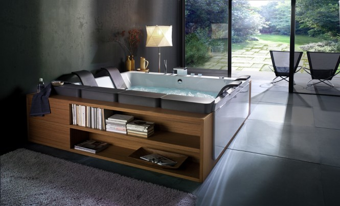 bathtub with storage