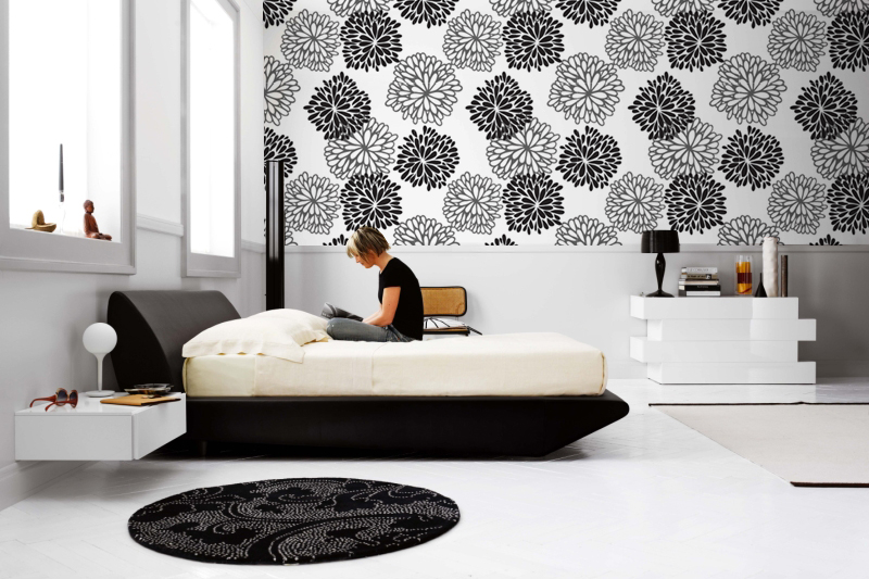 Photo wallpapers for every room for Black bedroom wallpaper designs