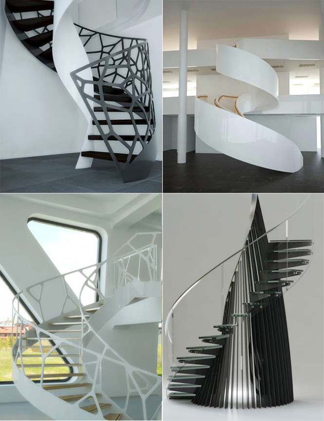fancy staircase treatments