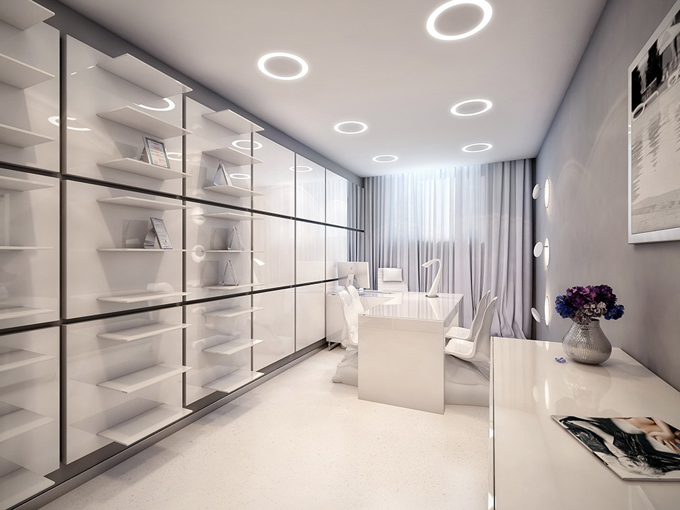 The world 39 s most stylish surgery clinic visualized for Medical office interior design