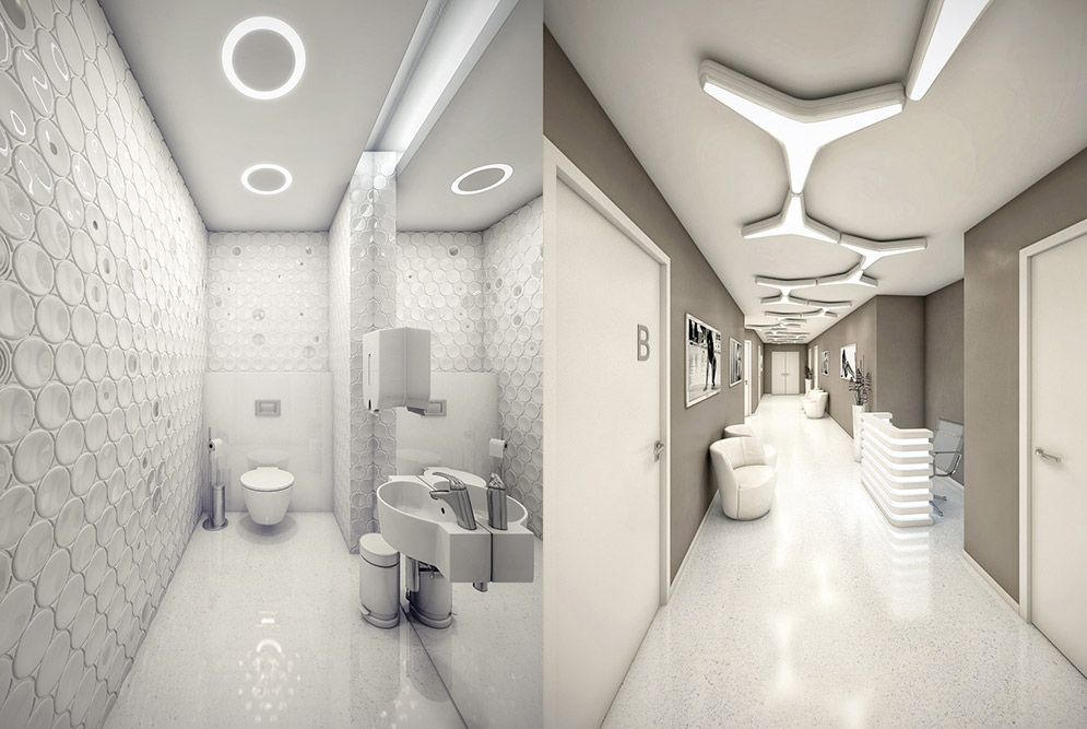 Hospital Toilet corridor Interior Design Ideas