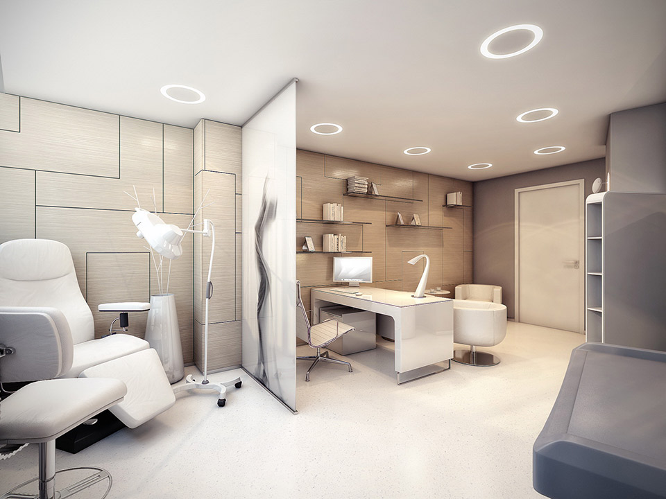 The world 39 s most stylish surgery clinic visualized for Beautiful modern office design