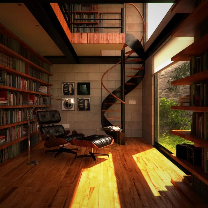 multi level bookshelf