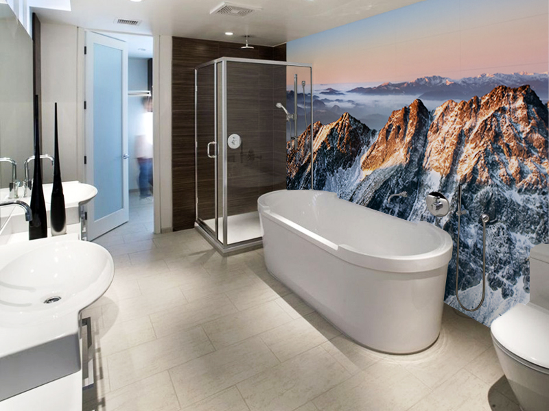 Regional Bathroom Wall Mural 9 Interior Design Ideas