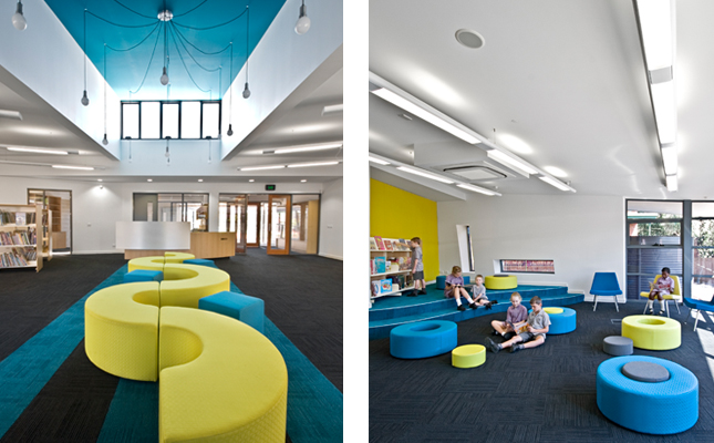 Elementary Classrooms Of The Future ~ Schools with a splash of color