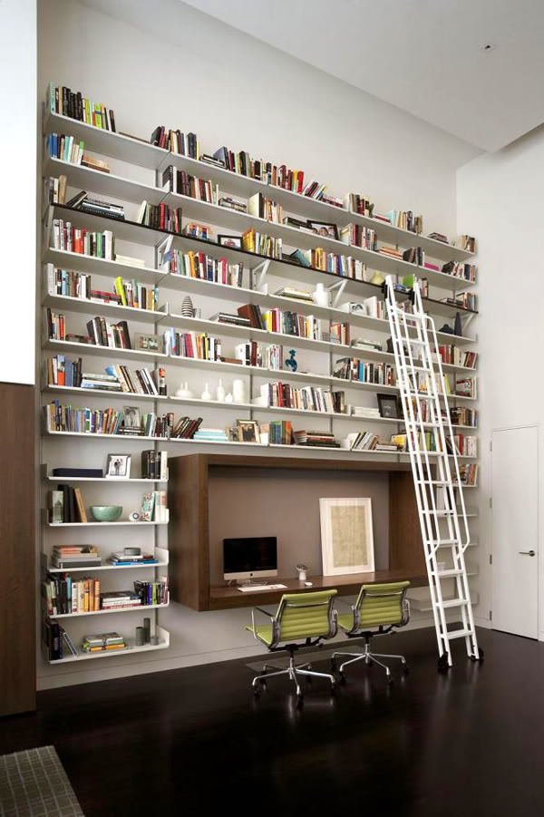 Wall bookshelf interior design ideas - Modern bookshelf plans ...