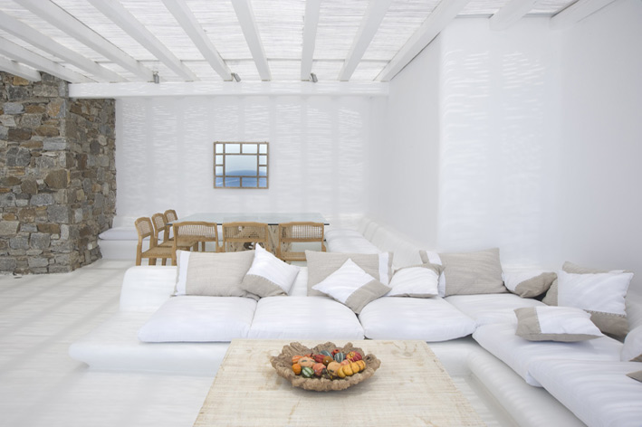 Villa in mykonos for Beach villa design ideas