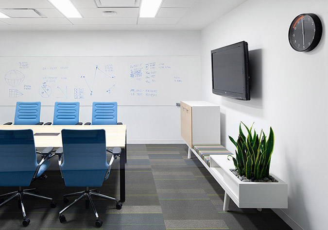 Clean simple meeting room interior design ideas for Clean interior design