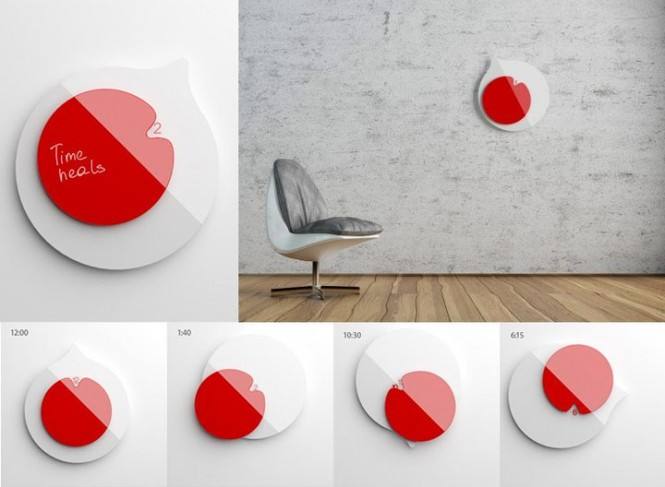 Clock developed by Anna Marinenko as a tribute to Japan.