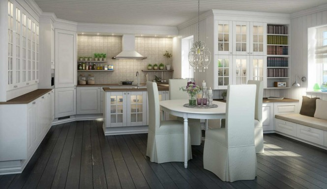 graceful lightened Norwegian kitchen