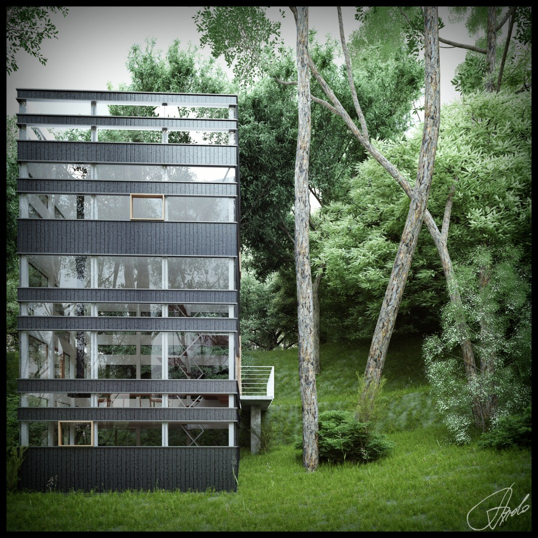 Modern Forest House: Japanese House In The Forest (Visualized